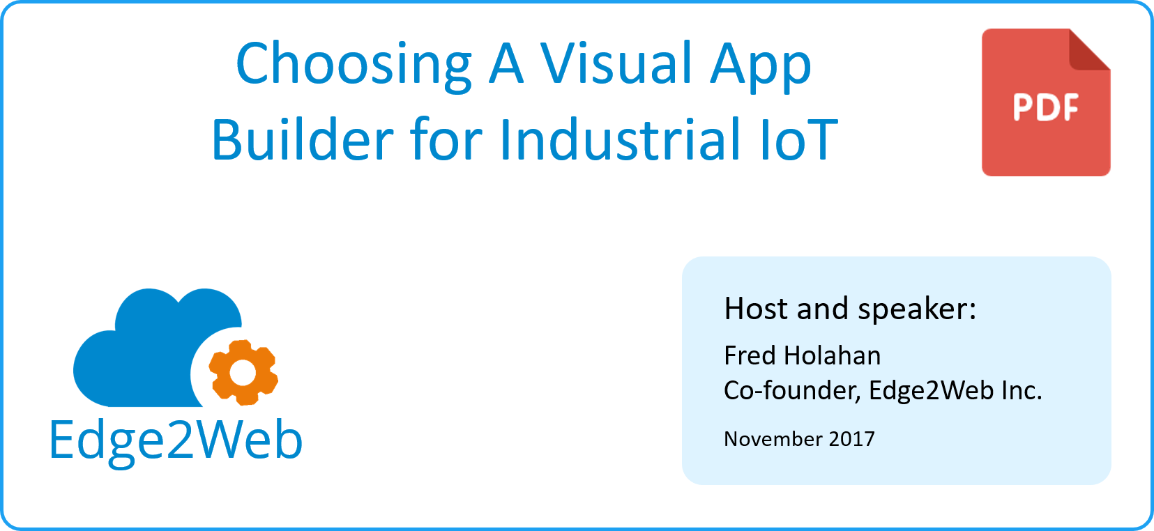 Choosing a Visual App Builder for Industrial IoT | Edge2Web com