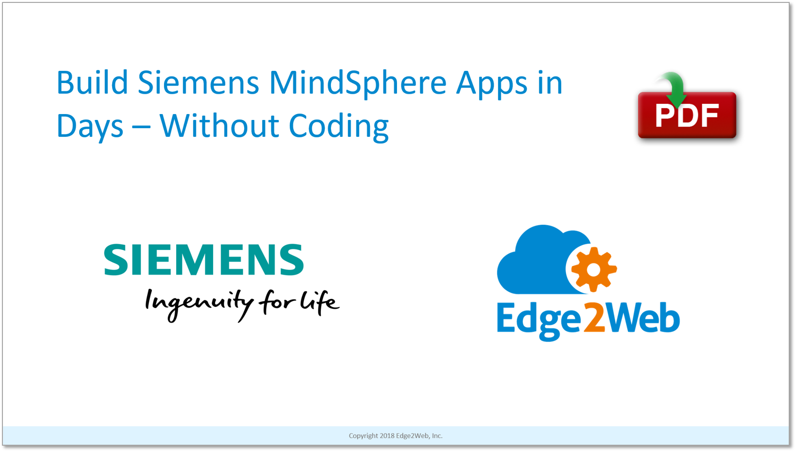 Build Siemens MindSphere Apps in Days - Without Coding! | Edge2Web com